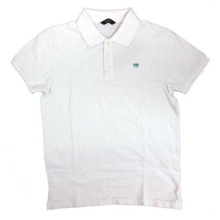 SCOTCH&SODA(スコッチ&ソーダ)半袖鹿子ポロシャツ01(ホワイト)