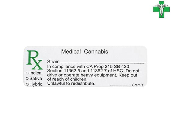 メディカルマリファナ 医療大麻 売り出し ケース用ステッカー 1枚 一部予約 カリフォルニア州