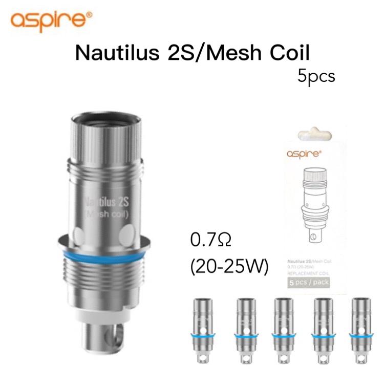 送料無料 Aspire Nautilus 2S Mesh Coil 0.7Ω アスパイア ノーチラス メッシュ dotmod 正規激安 dotAIO 交換用 授与 SE 装着可能 vape 電子タバコ mini コイル ベイプ