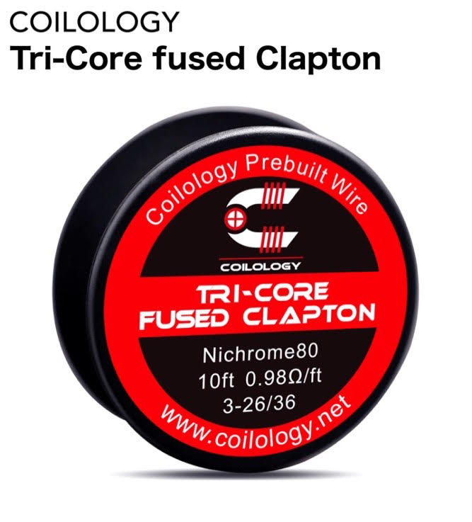 Coilology Tri-Core Fused Clapton Wire ◇限定Special Price Ni80 10ft クラプトン 人気 電子タバコ vape ビルド ニクロム ワイヤー コイル