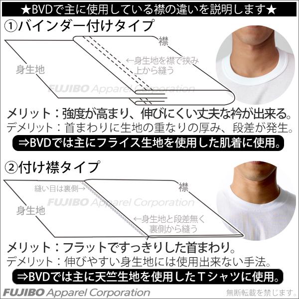 5枚セット!B.V.D.Finest Touch EX クルーネックTシャツ(M.L) 【白】【日本製】 【コンビニ受取対応商品】 gn303-5p