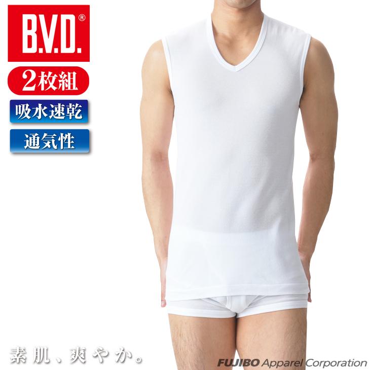 2枚組 B.V.D. カノコメッシュ V首スリーブレス 吸水速乾 クールビズ 人気ブレゼント! Vネック メンズインナー 実物 アンダーウェア コンビニ受取対応商品 インナーシャツ ey531 ビジネス