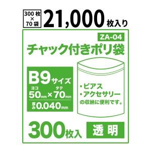 【送料無料】チャック付きポリ袋B9サイズ【透明】【21,000枚入り】 0.04mm厚