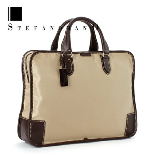 ★ product made in nylon, 207 lightweight briefcase BLACK[ Italy ]/ business bag / briefs bag / nylon bag /A4 independence type /STEFANOMANO/Made In ITALY to charm you by ステファノマーノビジネスバッグ (beige) stitchwork of an able man