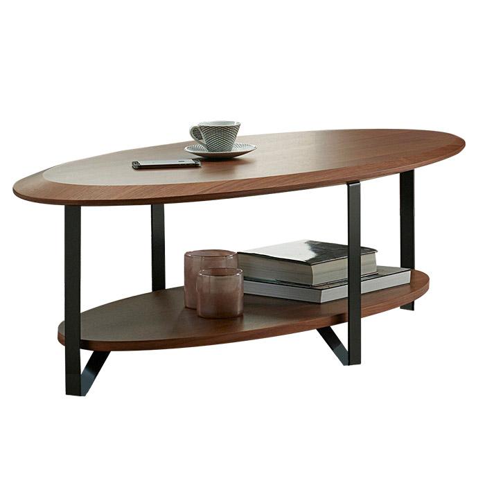 【送料無料】リビングテーブル 楕円 (W1300×D700×H380) - LEVANTE