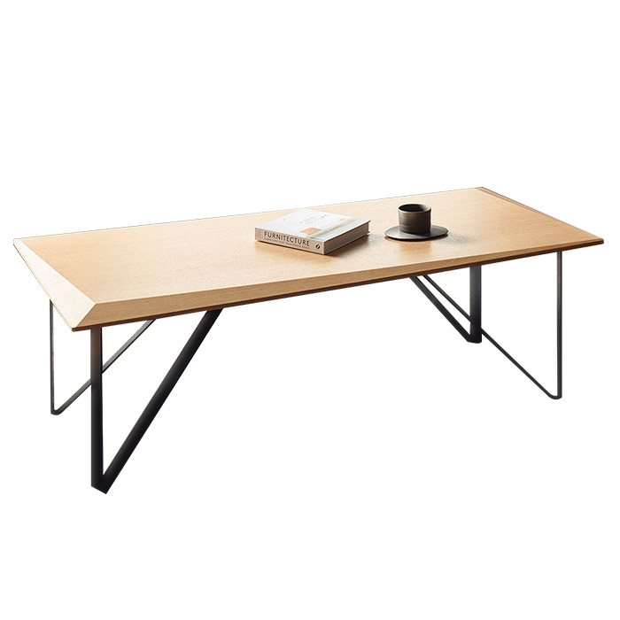 【送料無料】リビングテーブル スクエア (W1200×D550×H380) 棚付 - LEVANTE