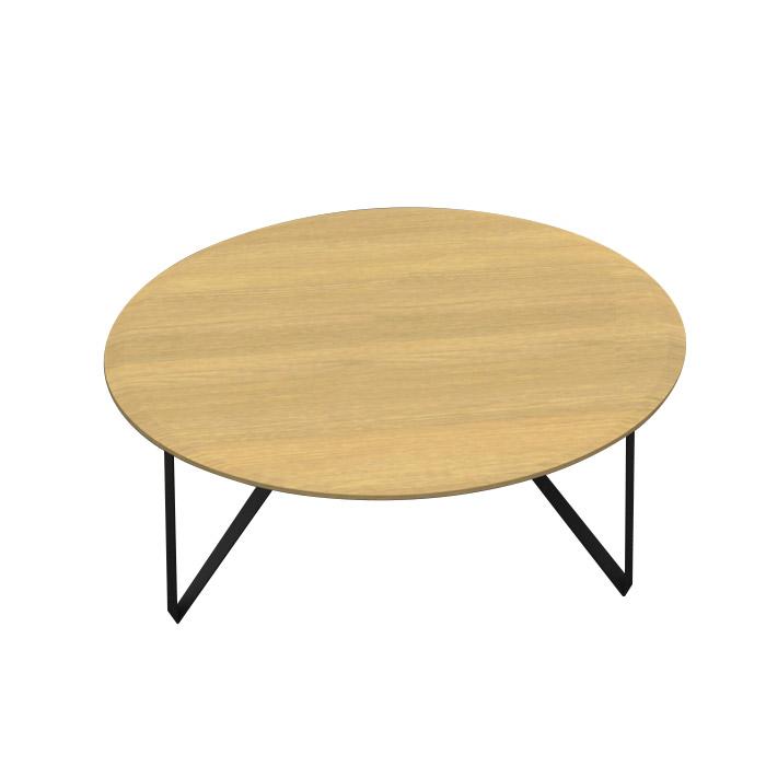 【送料無料】リビングテーブル 丸型 (W1000×D1000×H380) - LEVANTE