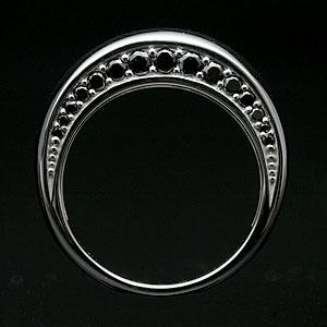 ブラックダイヤモンド メンズ リング ブラックダイヤ メンズ ピンキーリング K18WG 宝石鑑別書付 【MODEAL】【送料無料】 18k Men's ring jewelry 男性用 18金 リング 指輪 メンズ シンプル