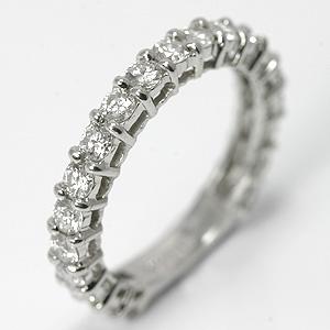 ダイヤモンド プラチナ エタニティ ピンキーリング 宝石鑑別書付 【送料無料】ダイヤ Pt900 diamond ring