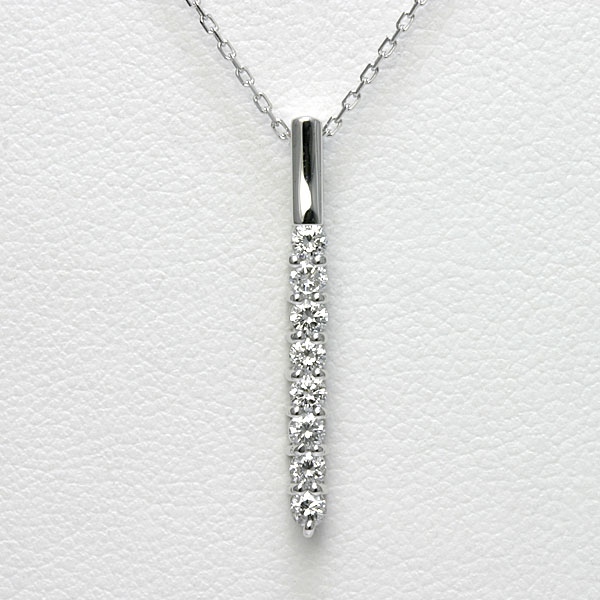 ダイヤモンド ネックレス K18WG【送料無料】ラインネックレス 18金 18k ホワイトゴールド