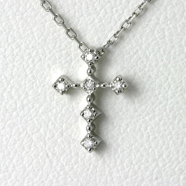 プラチナ ネックレス クロス ダイヤ【送料無料】 Pt900 ダイヤモンド クロスネックレス 十字架