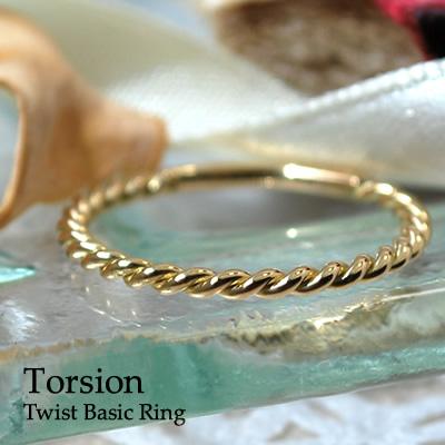 18金 K18 ツイスト リング 指輪 リング レディース 華奢 重ねづけ シンプル おしゃれ ねじれ ホワイトゴールド ピンクゴールド イエローゴールド トーション 細身 デザインリング