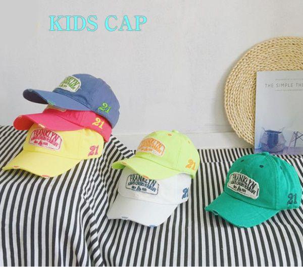 キッズ CAP 帽子 キャップ 日よけ 48-50cm ホワイト イエロー ブルー WEB限定 新色 ピンク グリーン 6カラー オシャレ おしゃれ かわいい 小物 衣装 男の子 子供 通販 野球帽 KIDS 人気 ダンス 女の子 こども
