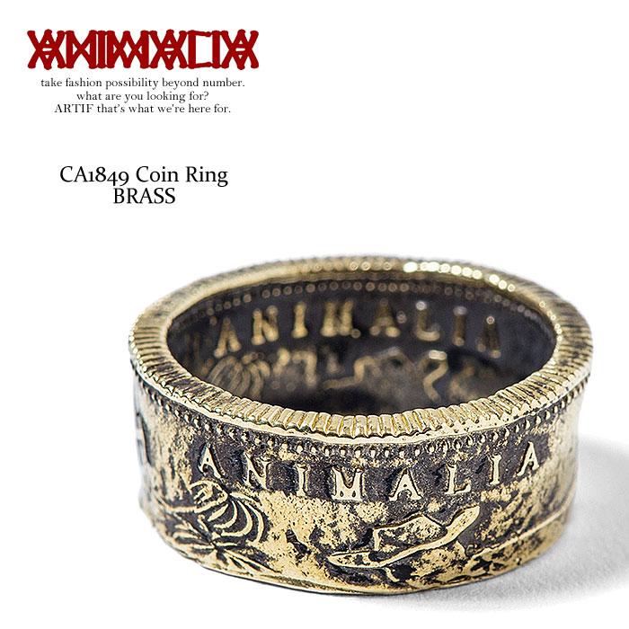 アニマリア リング ANIMALIA CA1849 Coin Ring -BRASS- animal-ac28【ストリート系 ファッション】