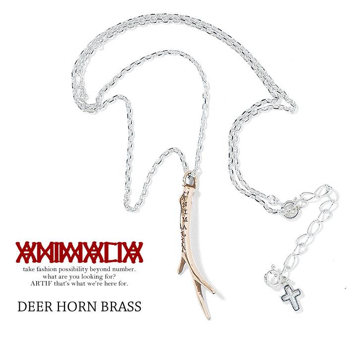 アニマリア ネックレス ANIMALIA DEER HORN-BRASS animal-ac45