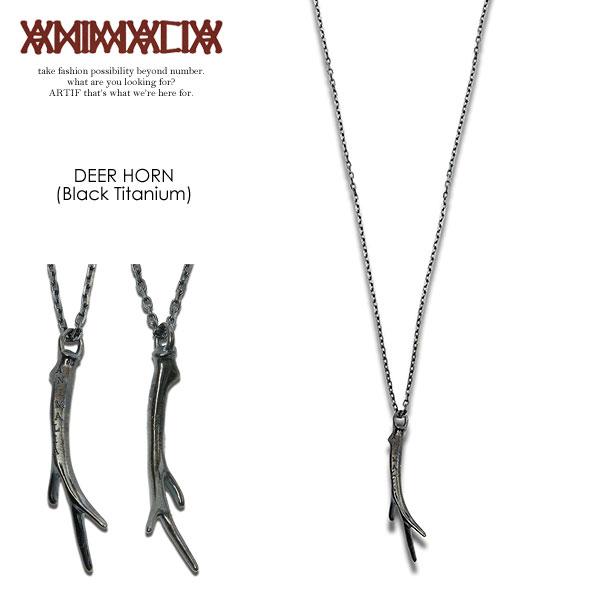 アニマリア ネックレス ANIMALIA DEER HORN-BLACK titanium【ストリート系 ファッション】