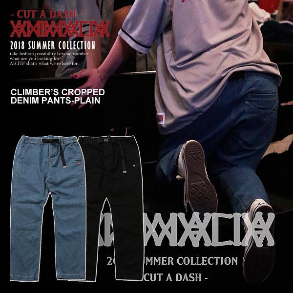 アニマリア パンツ ANIMALIA CLIMBER'S CROPPED DENIM PANTS-PLAIN【ストリート系 ファッション】