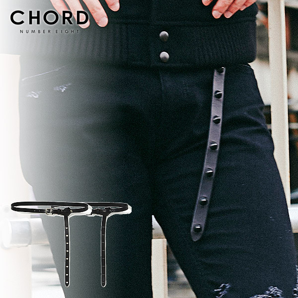 コードナンバーエイト ベルト CHORD NUMBER EIGHT LONG LEATHER STUDS BELT ストリート系 ファッション