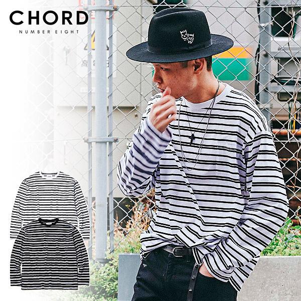 先行予約 コードナンバーエイト Tシャツ CHORD NUMBER EIGHT RANDOM BORDER WIDE LONG SLEEVE 9月~10月入荷予定 ストリート系 ファッション