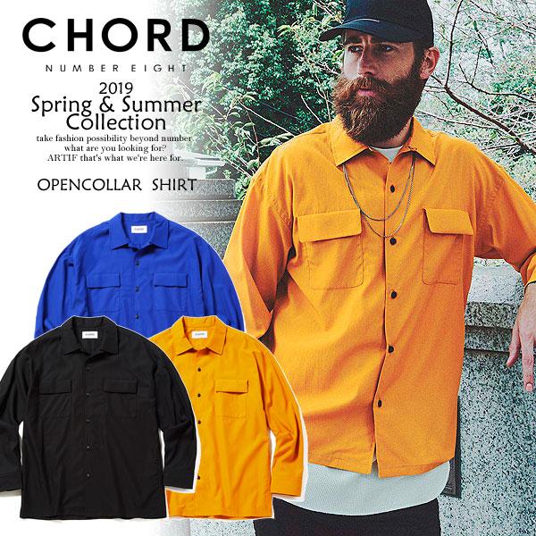 先行予約 コードナンバーエイト シャツ CHORD NUMBER EIGHT OPENCOLLAR SHIRT 3月~4月入荷予定【ストリート系 ファッション】