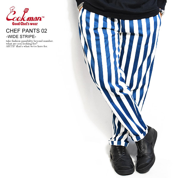 クックマン シェフパンツ COOKMAN CHEF PANTS 02 -WIDE STRIPE- ストリート系 ファッション