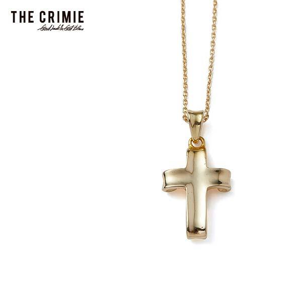 先行予約 クライミー ネックレス CRIMIE LETTER RIBBON 18K GOLD CROSS NECKLESS 12月~1月入荷予定 ストリート系 ファッション