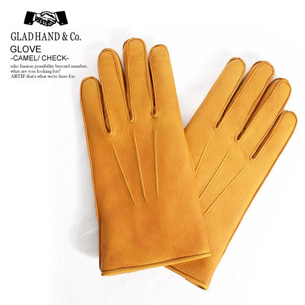 グラッドハンド グローブ GLAD HAND GLOVE -CAMEL/CHECK- ストリート系 ファッション
