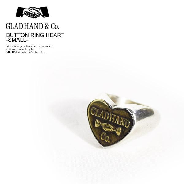 グラッドハンド リング GLAD HAND BUTTON RING HEART -SMALL- ストリート系 ファッション