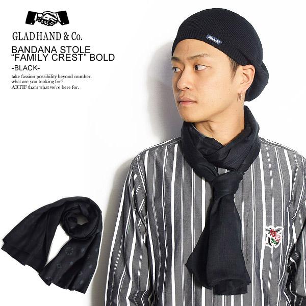 超激安 グラッドハンド バンダナ GLAD CREST- HAND GH-BANDANA -FAMILY CREST- -BLACK- -BLACK- HAND ストリート系 ファッション, ツールディスカバリー:b9f06cba --- enduro.pl