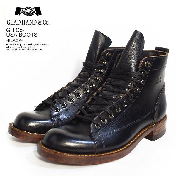 グラッドハンド ブーツ GLAD HAND×All American Boots Mfg., Inc. GH Co.-USA BOOTS -BLACK-【ストリート系 ファッション】