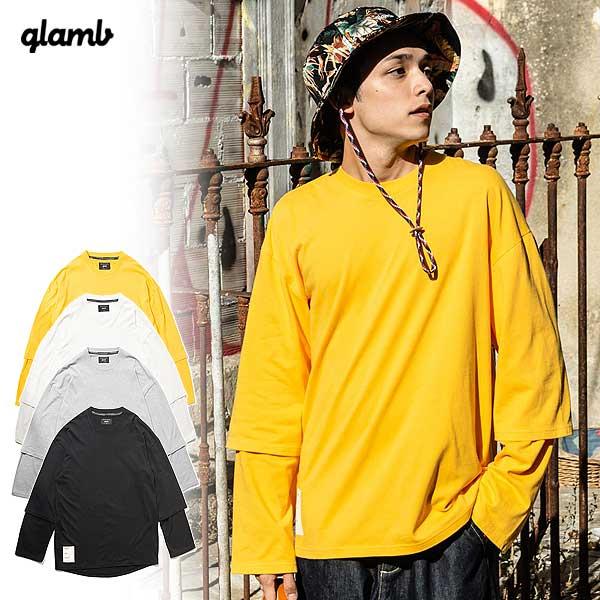 グラム カットソー glamb Oversize fake layered CS ストリート系 ファッション