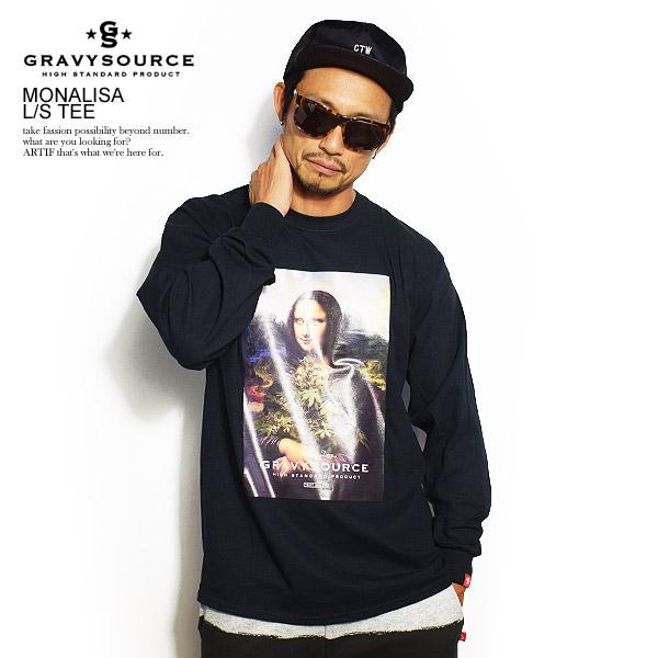 グレイビーソース 長袖Tシャツ GRAVYSOURCE MONALISA L/S TEE SPOT ITEM ストリート系 ファッション