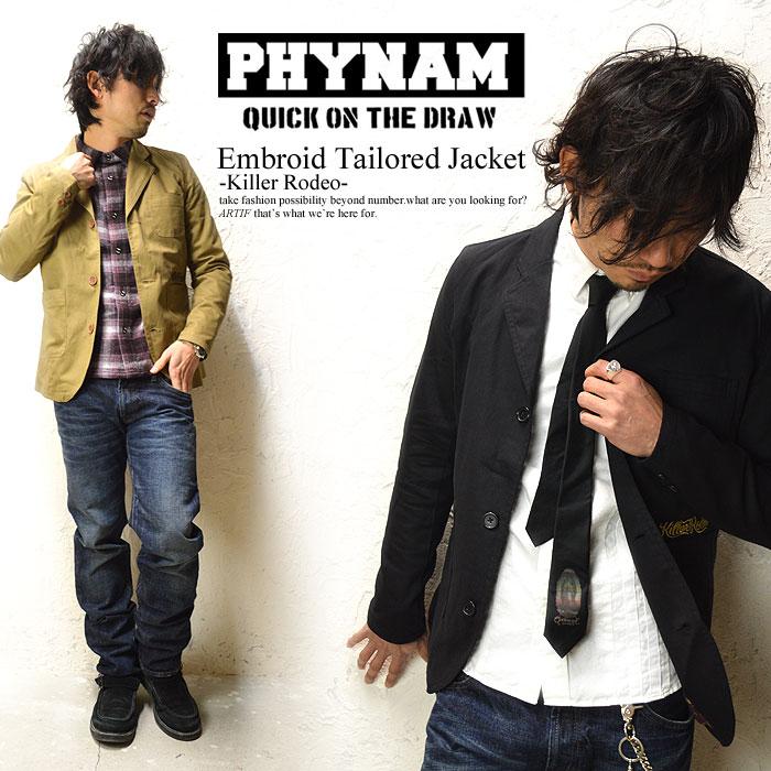 PHYNAM(ファイナム)TAILORED JKT -Killer Rodeo-(2カラー)【テーラード ジャケット キレイ目 三つボタン】 ストリート