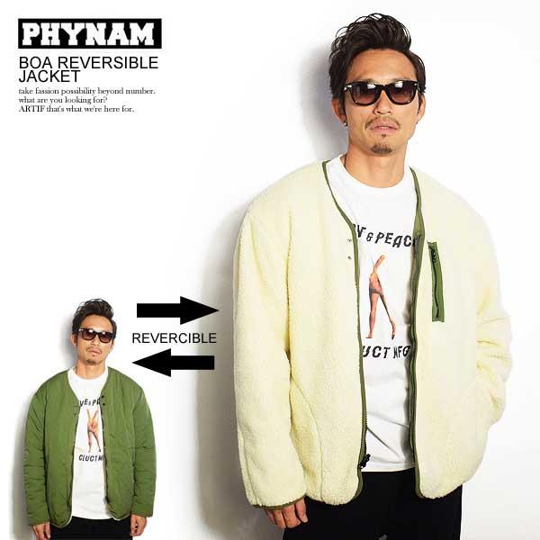 ファイナム ジャケット PHYNAM BOA REVERSIBLE JACKET ストリート系 ファッション