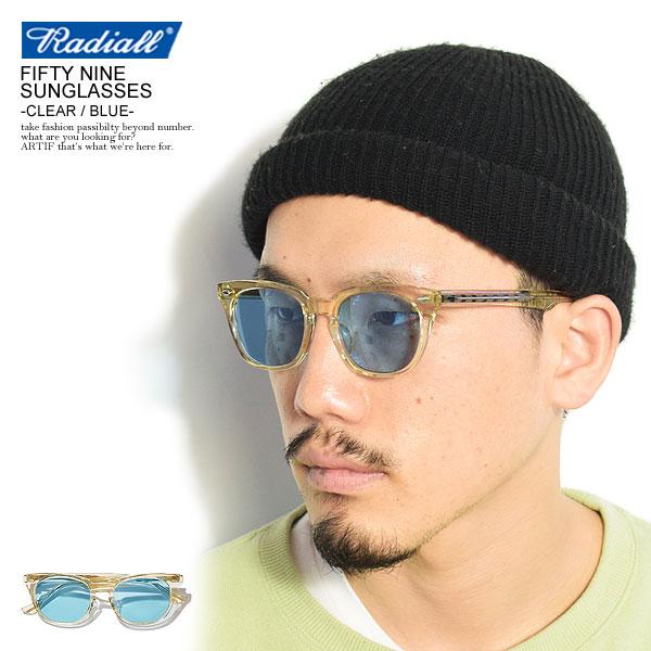 ラディアル サングラス RADIALL FIFTY NINE - SUNGLASSES -CLEAR×BLUE- メンズファッション ストリート系