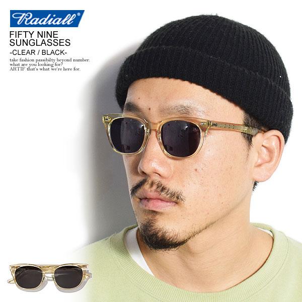 ラディアル サングラス RADIALL FIFTY NINE - SUNGLASSES -CLEAR×BLACK- メンズファッション ストリート系