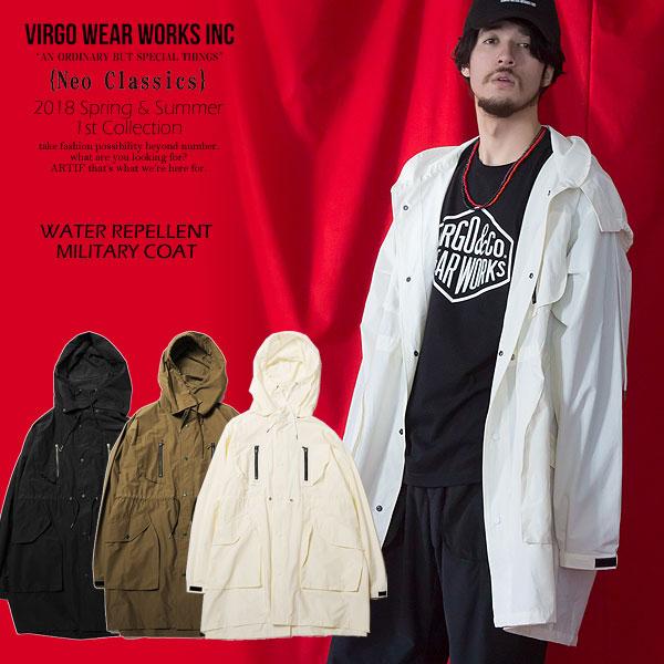 50%OFF SALE セール VIRGO WATER REPELLENT MILITARY COAT 【ストリート系 ファッション】
