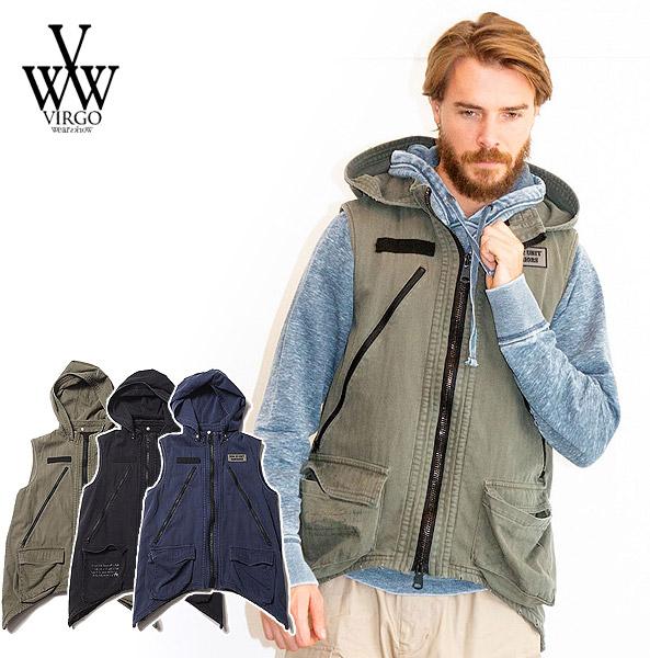 ヴァルゴ ベスト VIRGO CRAZY MOTH VEST ストリート系 ファッション