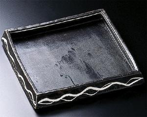 【キャッシュレス決済で5%還元!】【送料無料】手造黒釉 角鉢【smtb-k】【ky】