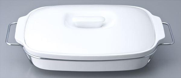 45cm蓋付キャセロール(ワイヤー別売085-49-104) サイズ:45×33×H9.5cm 業務用 キッチン用品 厨房用品 食器 居酒屋 おしゃれ食器 創作料理