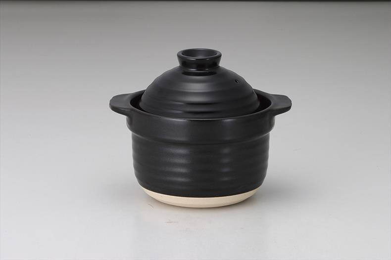 【キャッシュレス決済で5%還元!】黒3合炊き サイズ:L22.5×S18.9×H18.5cm