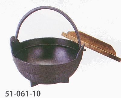 テーブルウェア キッチングッズの格安挑戦 M10-002ふるさと鍋 段付黒 春の新作 メーカー直売 φ15