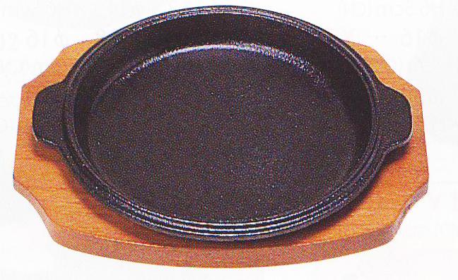 【テーブルウェア、キッチングッズの格安挑戦!】 ステーキ皿縁付丸型B21cm