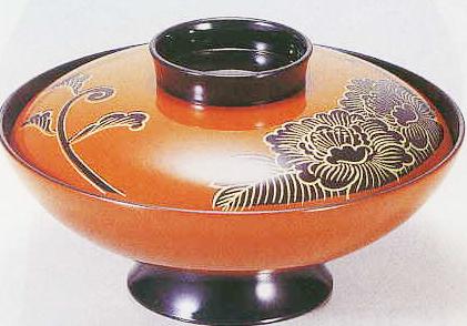 テーブルウェア 全品最安値に挑戦 キッチングッズの格安挑戦 1-208-16寸小槌煮物椀 合作牡丹 爆安プライス