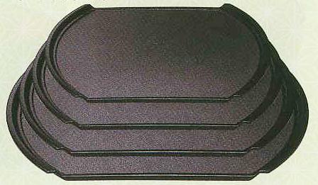 テーブルウェア 内祝い キッチングッズの格安挑戦 9-1-14小判型フライト盆 驚きの値段 黒パールSL 尺3.5