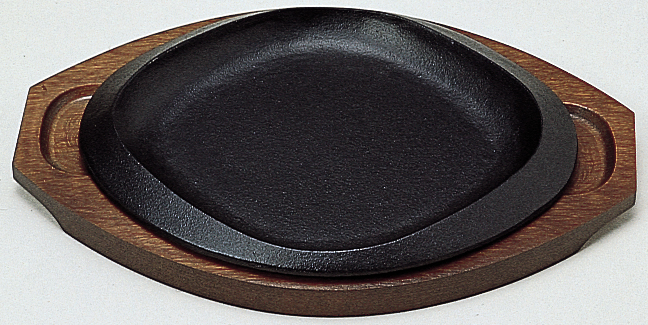 ステーキ皿 菱丸型 25cm
