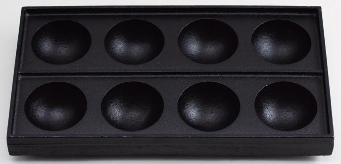 鉄板たこ焼き 特大たこ焼8穴 業務用 キッチン用品 厨房用品 食器 居酒屋 おしゃれ食器 創作料理