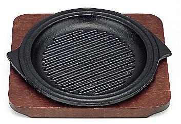 鉄板 ミニステーキ皿 グリル丸 15cm