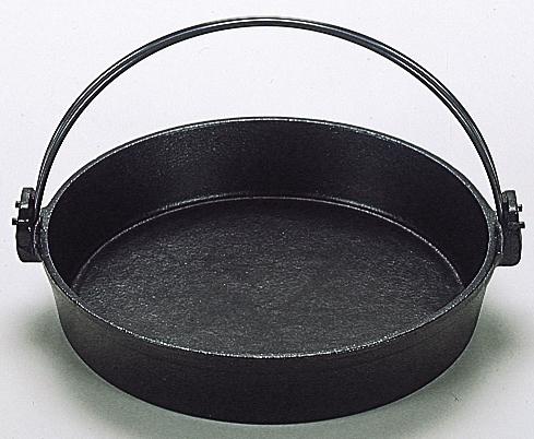 鉄板 すきやき鍋 ツル付 26cm