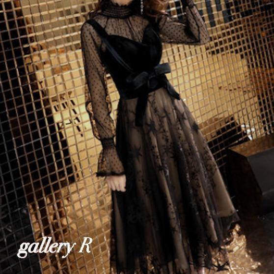 イブニングドレス 年間定番 ワンピースドレス ワンピース 結婚式 同窓会 レースドレス セール 謝恩会 ドレス